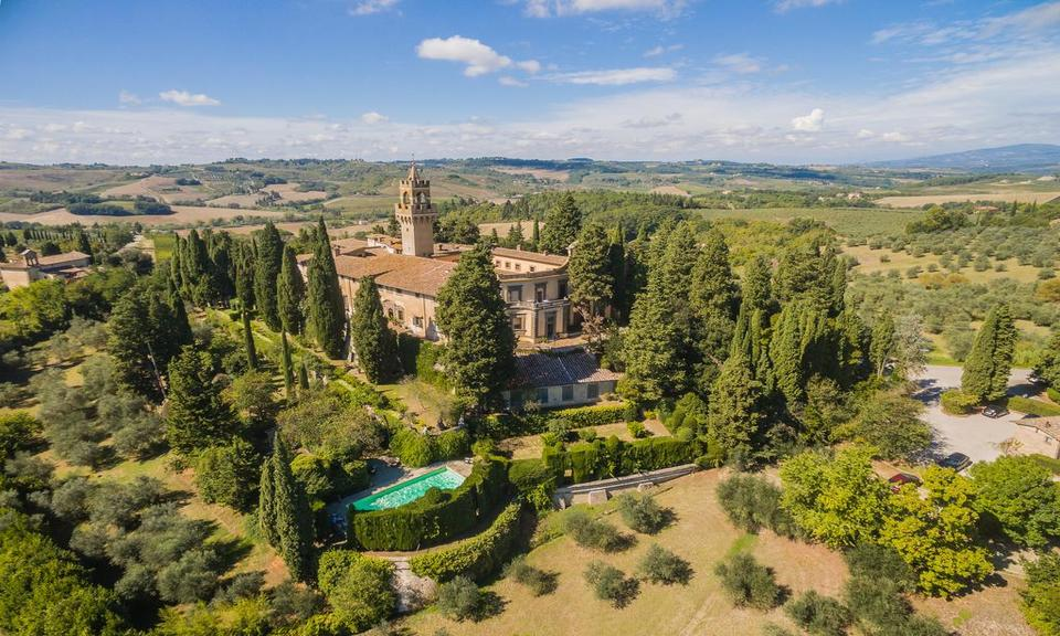 Castle stay near Florence, Tuscany, Italy.