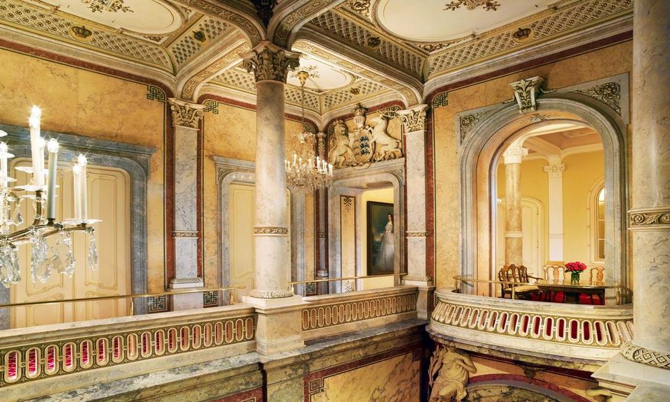 Historic architecture at Hotel Imperial; a luxury 5 star historic hotel in Central Vienna
